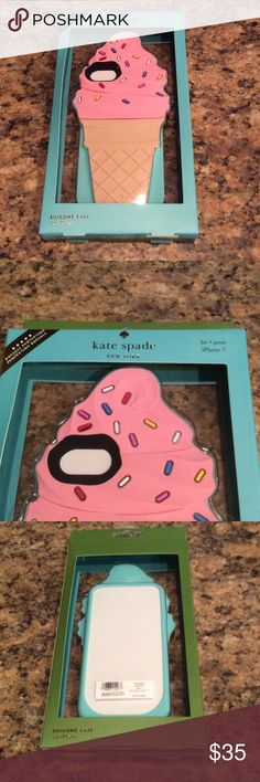 Kate Spade Ice Cream Cone Silicone iPhone 7 Case Brand new, still in package phone case by Kate Spade. Adorable and cheerful ice cream cone silicone case for an iPhone 7. kate spade Accessories Phone Cases