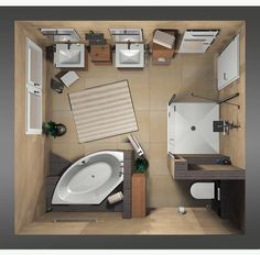 Haus Frieling: Planungsbeispiele und Lösungen The formal arrangement is likely to look too stiff; Small Hall, Ensuite Bathrooms, Bad Inspiration, Country Style Homes, Small House Plans, Small Living Rooms, Modern Room, Storage Spaces, Family Room