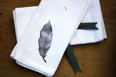 Hey, I found this really awesome Etsy listing at https://www.etsy.com/listing/121553924/cloth-dinner-napkins-feather-set-of-12