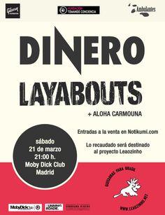 """Concierto de Layabouts + Dinero + Aloha Carmouna para el proyecto """"Leaozinho"""" en Madrid"""