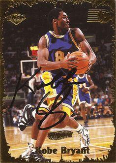 Kobe Bryant Autograph Hand Signed Rookie Rage Gold 5 Time NBA Champion LA Lakers