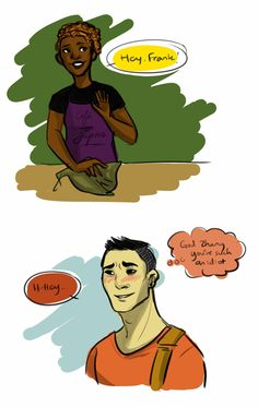 Frank/Hazel coffee shop au