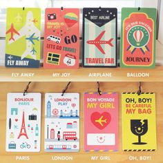 These fabulous luggage tags will make sure your luggage arrives ...