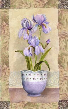 Iris by Abby White ~ floral art