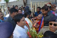 #Yoga guru baba Ramdev with Acharya Balkrishna in Darjeeling.