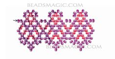 Free pattern for necklace Queen of Violet - 2-----------u need Seed Beads 11/0, two colors.