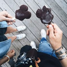 Mickey Mouse ice cream bars are my favorite!