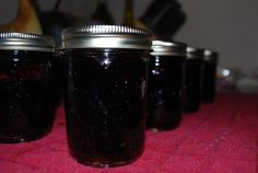 Enjoy your blueberry jelly! ** Blueberry Juice** Gallon Size Bag of Blueberries 4 Cups of Water Canning Tips, Home Canning, Canning Recipes, How To Make Juice, How To Make Jelly, Making Jelly, Making Food, Candy Making, Canned Blueberries