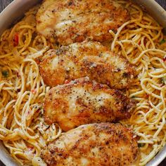 Italian Chicken Pasta in Creamy White Wine Parmesan Cheese Sauce
