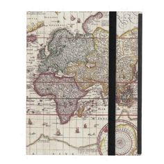 Vintage Antique Old World Map Design Faded Print iPad Case SOLD on Zazzle