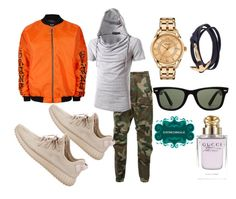 """""""Untitled #545"""" by d3finedimage on Polyvore featuring R13, adidas, MIANSAI, Versace, Topman, Ray-Ban, Gucci, men's fashion and menswear"""
