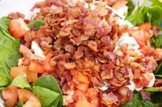 Bacon Spinach Salad with hot bacon vinegarette recipe