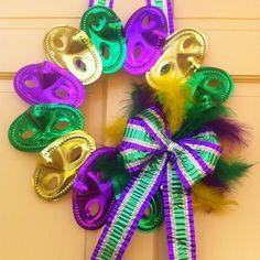 Mardi Gras Wreath! More