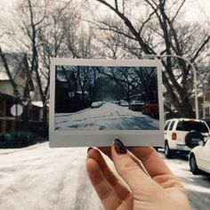 UO Chicago documenting the first snowfall of the year with #Fuji #Instax #Polaroid