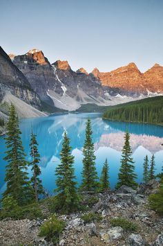 This is one of the most beautiful places I've ever been to!! Moraine Lake - Banff National Park, Alberta