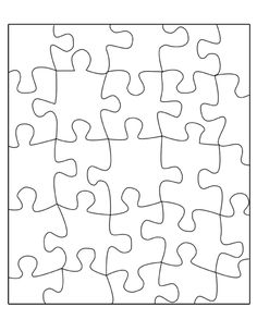 Blank Puzzle Template