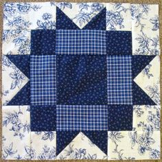 Little Quilts 2nd Sat. October 2014 Alternate Block - Blue & White