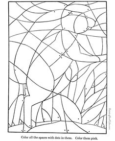 Hidden Picture Coloring Page | Fill in the colors to find hidden ...