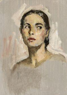 Original Oil Painting Portrait Study Young door wickstromstudio