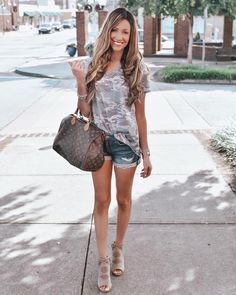 718c57d751581a Loose Cut Casual Short Sleeve Top - Amaryllis Apparel with  catherin.grey  Casual Shorts
