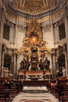 Cathedra Petri - Chair of Saint Peter, St Peter's Basilica, Vatican City. February 22.