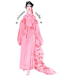 Bijou Karman — Acne, Illustration, Fashion, Pink, Illustrator