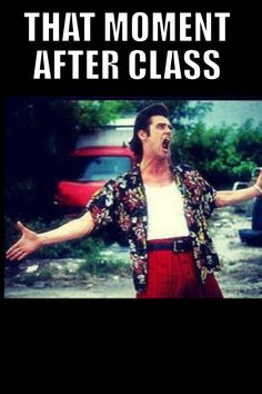 That moment after class...