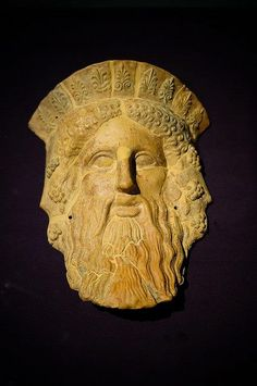 mask of Dionysos,  ca. 450/400 BC, discovered in Beotia, Hellas