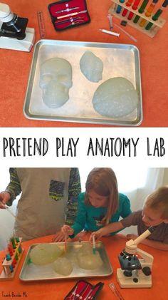 Pretend play anatomy lab (Awesome Halloween Science Idea!)