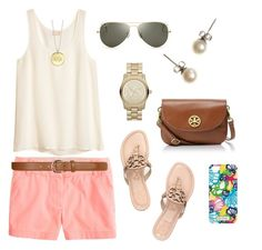 Spring day with Tory by lyanders on Polyvore featuring polyvore, fashion, style, H&M, J.Crew, Tory Burch, MICHAEL Michael Kors, Ray-Ban, Lilly Pulitzer and Dorothy Perkins