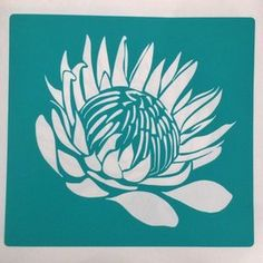 King ProteaB is a horizontally flipped version of King Protea A.The stencil is cut from 230 micron stencil vinyl, with a self adhesive backing. Stencil Vinyl, Wall Stencil Patterns, Stencil Designs, Line Art Flowers, Flower Art, Spider Web Drawing, Protea Art, Paper Flower Tutorial, Diy Canvas Art