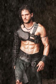 """Kit Harrington. """"Pompeii """". This was the only 15 seconds of the movie that was any good, but who cares, just look at him!"""