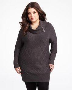 mxm shawl tunic sweater   Shop Online at Addition Elle