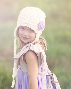 shell earflap beanie textured crocheted by by CraftingAdventures, $15.00
