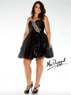 74a1bffe8af Mac Duggal Prom Black Short Empire Waist Dress With Silver Rhinestones On  Waist
