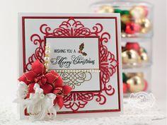 Christmas Card Making Ideas by Becca Feeken using Spellbinders Dies - www.amazingpapergrace.com