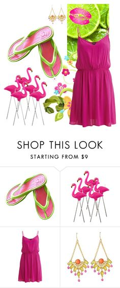 """""""Boardwalking"""" by shoppe23 ❤ liked on Polyvore featuring VILA and FlipFlops"""