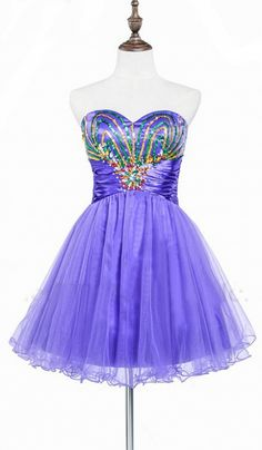 Sleeveless Purple Homecoming Dresses A lines Sequined Above-Knee