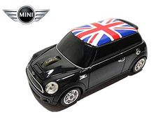 LM-AMCOPSU-Bk (Union Flag) ミニ クーパー (ブラック) 無線マウス 2.4G Mini cooper s Red wireless mouse ワイヤレス マウス