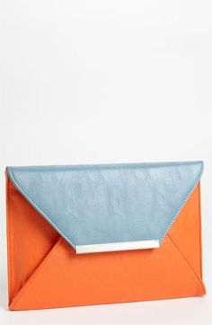 Nila Anthony Colorblock Clutch available at #Nordstrom