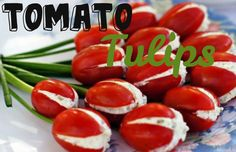 Tomato Tulips! Is your family hosting Easter this year? If you are, or if you are in charge of bringing food, then I have a great appetizer that is sure to impress the fam! Introducing, tomato tulips! These adorable appetizers will have your guests oohing and ahhing! Here is how you make them:Ingredients:-Your...  Read More at http://www.chelseacrockett.com/wp/beauty/tomato-tulips/.  Tags: #Appetizer, #Creative, #Easter, #EasterParty, #EasterSnacks, #Food, #Party, #Prett