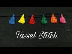 (7) Tassel Stitch (Hand Embroidery Work) - YouTube Hand Embroidery Dress, Hand Embroidery Stitches, Embroidery Designs, Pom Pom Flowers, Pom Poms, Silk Thread, Hand Sewing, Needlework, Tassels
