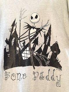 Nightmare Before Christmas Bone Daddy T-Shirt XL Jack Skellington Disney