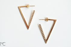 Geometric+Gold+plated+and+Zirconia+Triangle+Hoops+from+Maria+Corcuera+Jewelry+++design+by+DaWanda.com