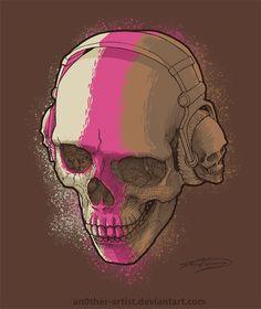 Skull Headphones on Behance