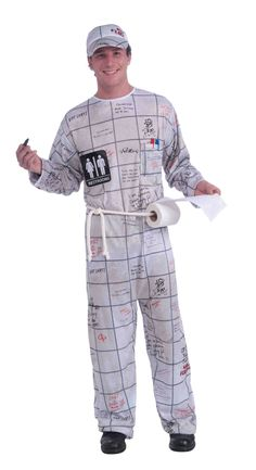 Bathroom Wall Guy Adult Costume