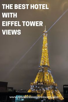 I researched Eiffel Tower hotels for hours to find the hotel with the best view of the Eiffel Tower Paris France Travel, Paris Travel Guide, Travel Guides, Europe Destinations, Backpacking Europe, Pullman Paris, Pullman Hotel, European Travel Tips, Visit France