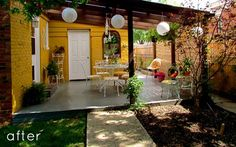 Cute outdoor space.