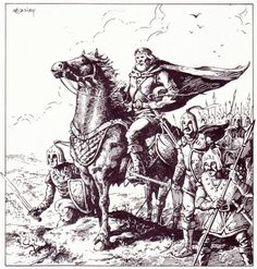 oldschoolfrp:A lord of the Flanaess prepares to defend his realm or to seize a rival's lands for himself. Jeff Easley from The World of Greyhawk, 1983.