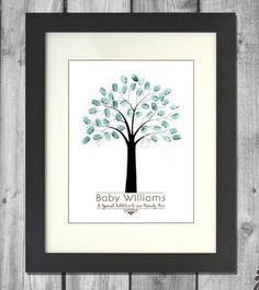 Gest book idea fingerprint tree